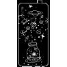 Funda Libro Ventana Samsung A3 Negra