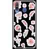 Funda Gel HTC Desire 500 Diamantes Rosa